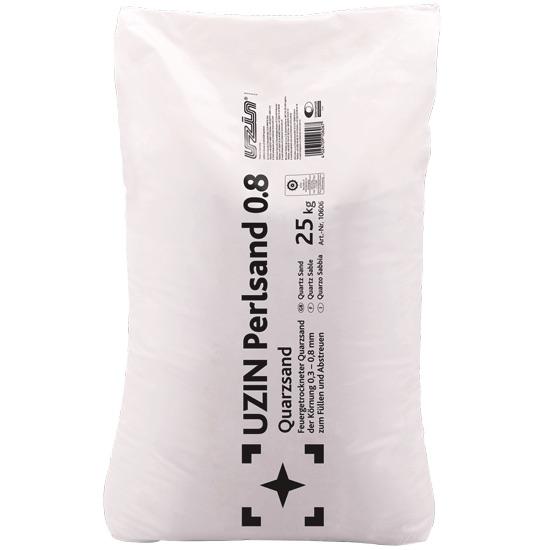 uzin perlsand 0 8 quarzsand 25 kg bodenversand24 onlineshop f r bodenbel ge. Black Bedroom Furniture Sets. Home Design Ideas