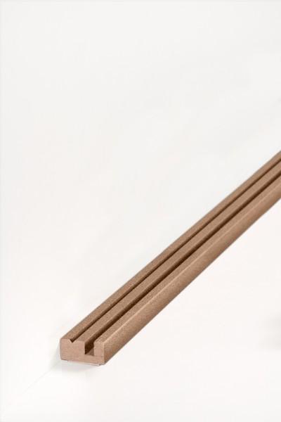 Südbrock Montageprofil für Rohrabdeckleiste, 12 x 27 x 2550 mm, mit vorkonfektioniertem doppelseitig