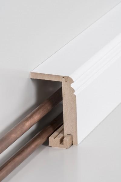 Südbrock Rohrabdeckleiste 64 x 96 x 2500 mm (einteilig), Innenmaß - 45 x 88 mm, Oberkante profiliert