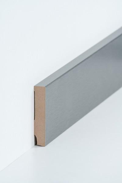 Südbrock Fußleiste 16 x 80 x 2500 mm, Oberkante rechteckig, MDF-Kern mit Metallicfolie ummantelt