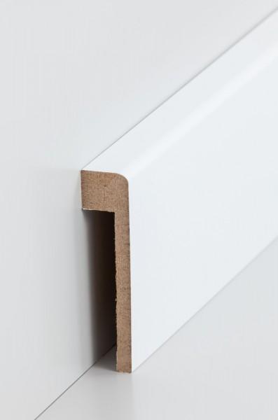 Südbrock Abdeckleiste für Fliesensockel 19 x 80 mm, Rückseitige Ausfräsung - 13 x 65 mm, MDF-Kern mi